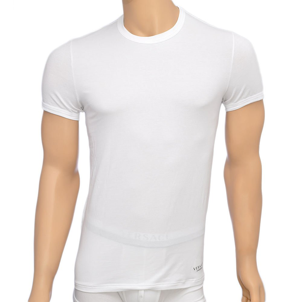 Versace titan crew neck t shirt white versace crew neck for Crew neck white t shirt