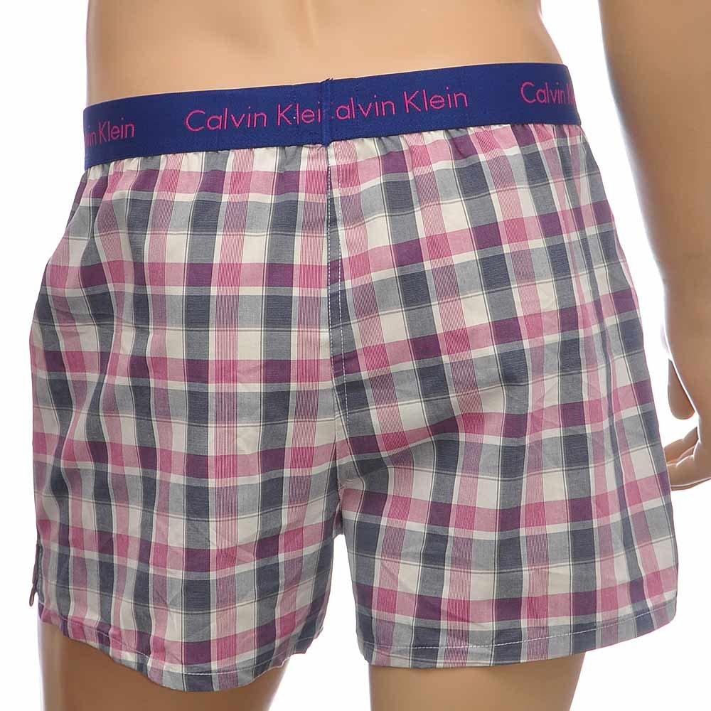 Details about Calvin Klein Underwear CK Men s Slim Fit Loose 100% Cotton  Woven Boxers Shorts a9576e02e9b