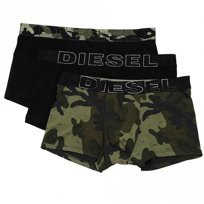 DIESEL 3-Pack Boxer Trunk UMBX-Damien, Black / Camo Print