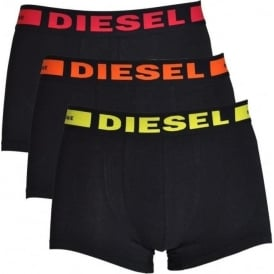 3-Pack Boxer Trunk UMBX-Kory, Black with Orange / Red / Yellow