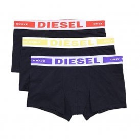 3-Pack Boxer Trunk UMBX-Kory, Black with Purple / Red / Yellow