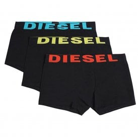 3-Pack Boxer Trunk UMBX-Shawn, Black With Blue/Yellow/Orange