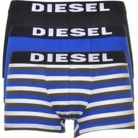 3-Pack Boxer Trunk UMBX-Shawn, Blue/Black/Stripe