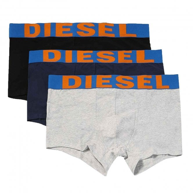 DIESEL 3-Pack Boxer Trunk UMBX-Shawn, Grey / Navy / Black