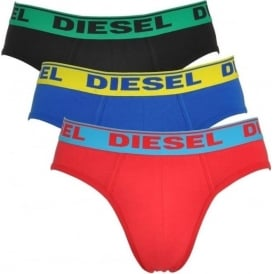 Fresh & Bright 3-Pack Brief UMBR-Andre, Red / Blue / Black