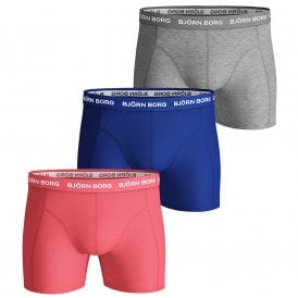 3 Pack Sammy BB Seasonal Solid Cotton Stretch Shorts, Sugar Coral