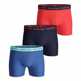 Essential Seasonal Solid 3 Pack Shorts, Ultramarine