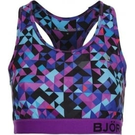 Wen Sports Bra, Blocks Blue