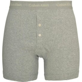 Basics Button Front Boxer Brief, Grey