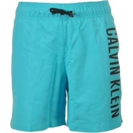 Boys Intense Power Swim Shorts, Blue Atoll