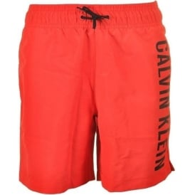 Boys Intense Power Swim Shorts, Poppy Red