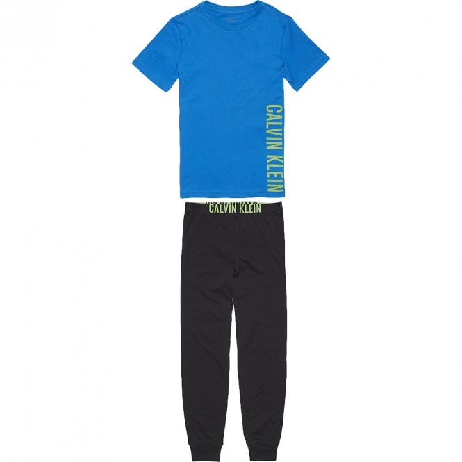 Calvin Klein Boys Knit PJ set, Imperial Blue / Black