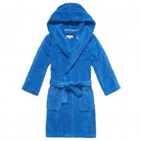 Boys Modern Cotton Robe, Blue