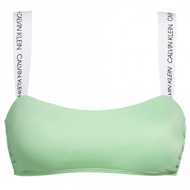 Calvin Klein CK Logo Swimwear Bandeau Bikini Top, Spring Bouquet