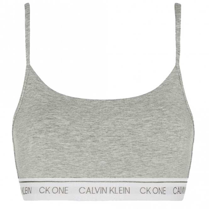 Calvin Klein CK One Cotton Modal Blend String Bralette, Grey