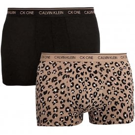 CK One Cotton Stretch 2 Pack Trunk, Black/Stephen Animal Alpaca