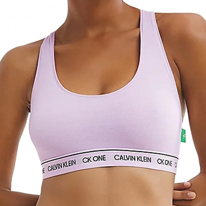 Calvin Klein CK One Recycled Bralette, Mauve Berry
