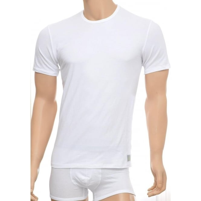 b83c5a68662e Calvin Klein CK One Short Sleeved Crew Neck T-Shirt 2-Pack, White, Small