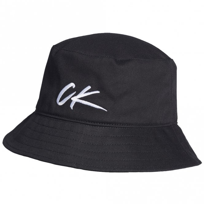 Calvin Klein CK Wave Bucket Hat, Black