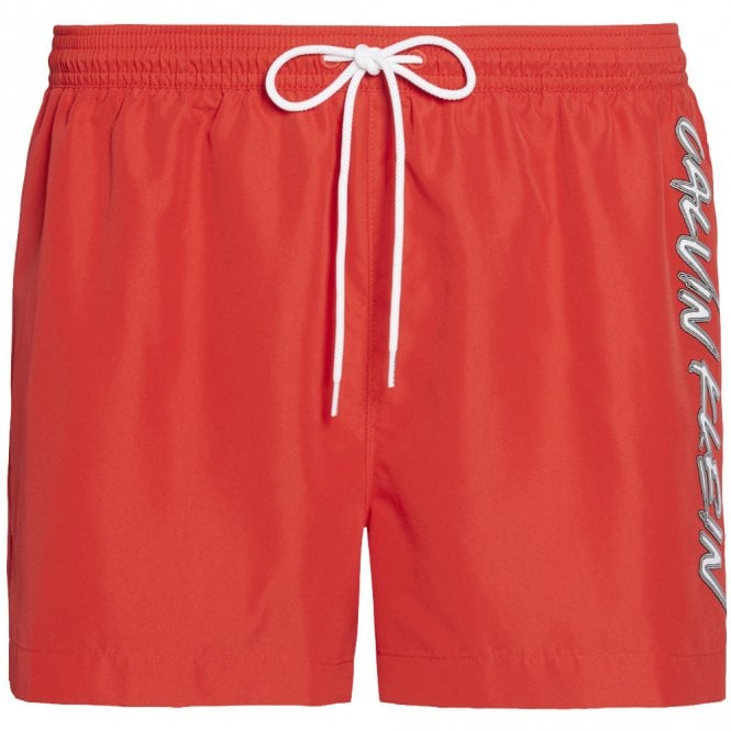 Calvin Klein CK Wave Short Drawstring Swim Shorts, High Risk