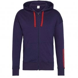 Compact Flex Lounge Full Zip Hoodie, Blue Noir