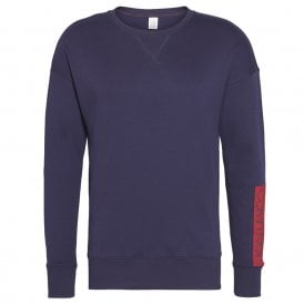 Compact Flex Lounge Sweatshirt, Blue Noir