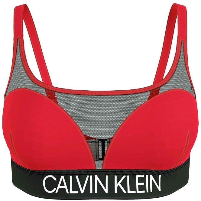 Calvin Klein Core Curve Swimwear Bikini Top, Rustic Red