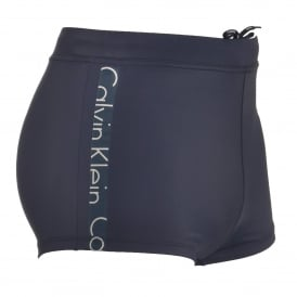 Core Logo Tape Swim Trunks, Blue Shadow
