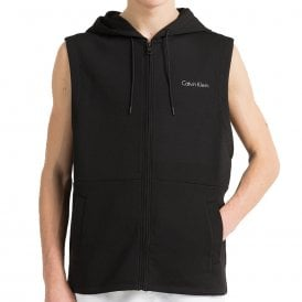 Core Neo Sleeveless Zip Hoodie, Black
