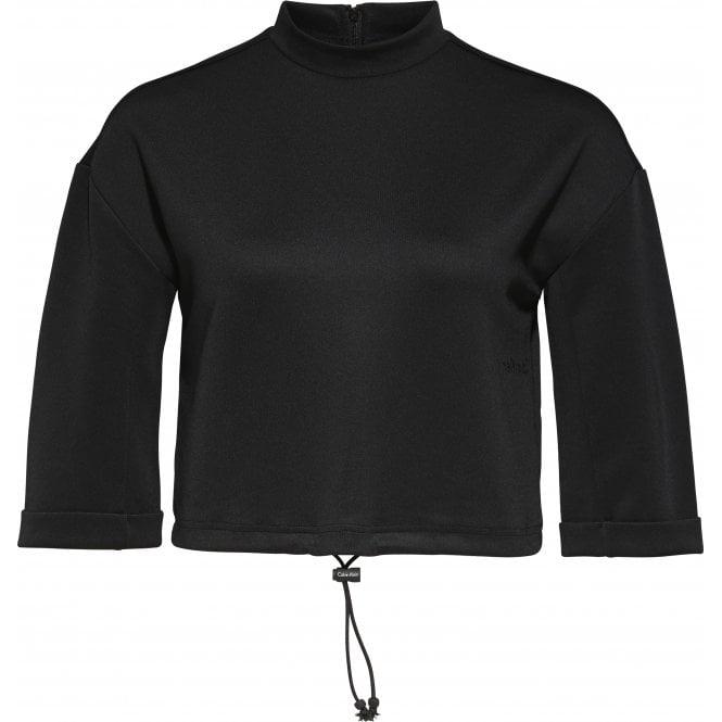 Calvin Klein Core Neo Swimwear Crop Top, Black
