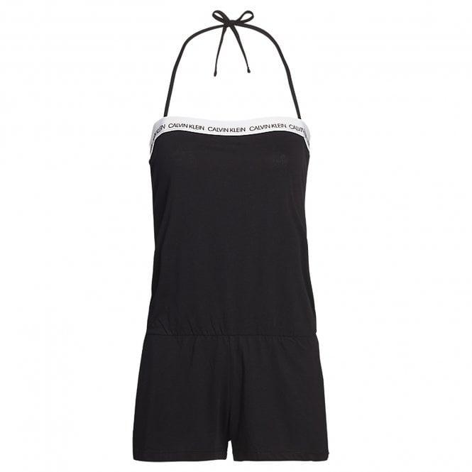 Calvin Klein Cotton Bandeau Romper Beachwear / Playsuit, Black