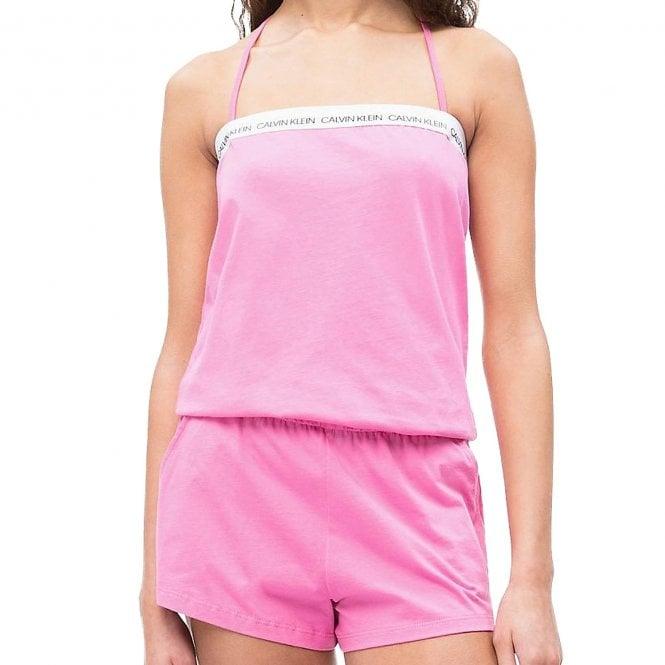 Calvin Klein Cotton Bandeau Romper Beachwear/Playsuit, Phlox Pink