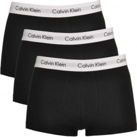 Cotton Stretch 3 Pack Low Rise Trunk, Black