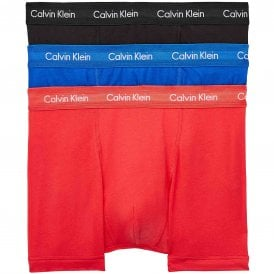 Cotton Stretch 3 Pack Trunk, Kettle Blue/Strawberry Field/Black