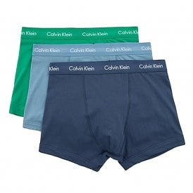 Cotton Stretch 3 Pack Trunk, Provincial Blue / Tourney / Mood Indigo