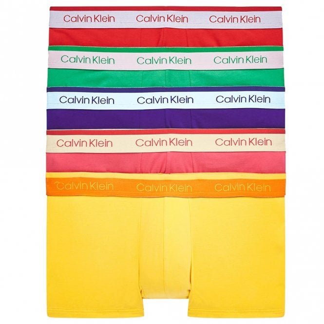 Calvin Klein Cotton Stretch 5 Pack Low Rise Trunk, Pride Colours