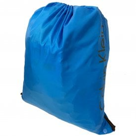 Drawstring Bag, Blue Jewel