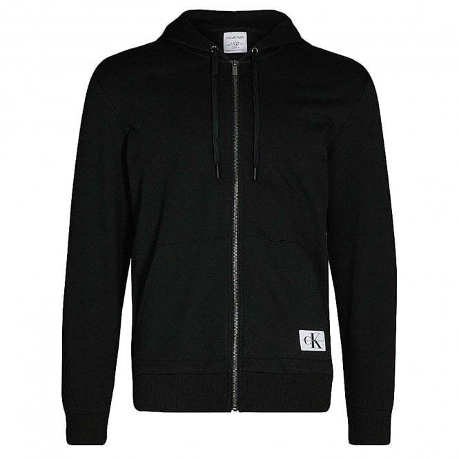 Calvin Klein Full Zip Hoodie - Monogram, Black
