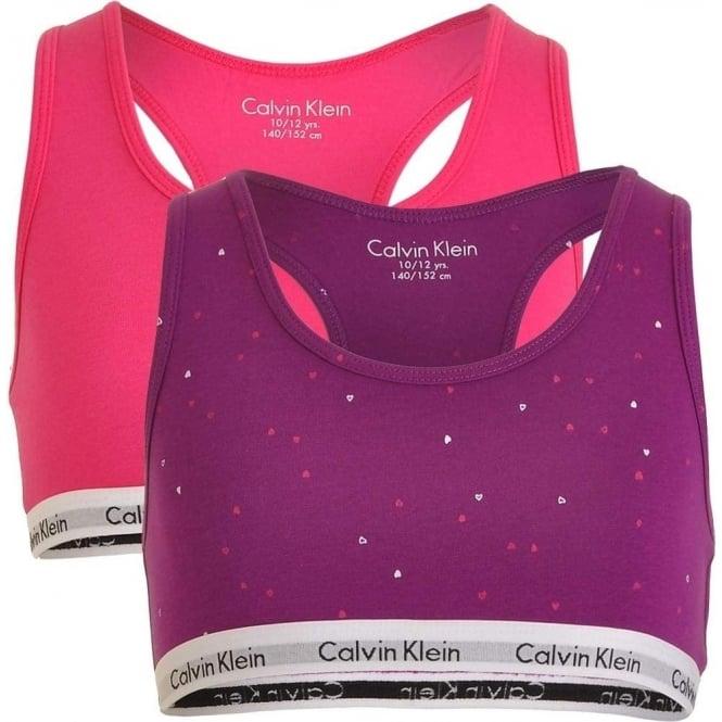 ad8229480ee36 Calvin Klein Girls 2 Pack Modern Cotton Bralette