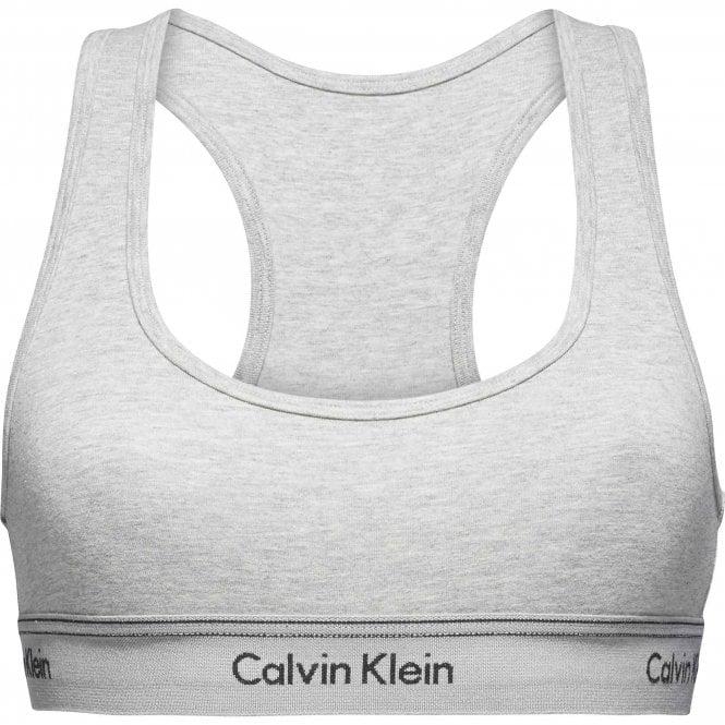 Calvin Klein Heritage Athletic Unlined Bralette, Heather Grey