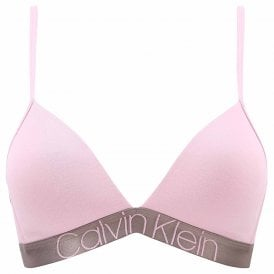Icon Light Lined Triangle Bralette, Echo Pink