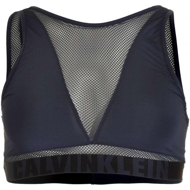 Calvin Klein ID Graphic Bralette, Blue Shadow