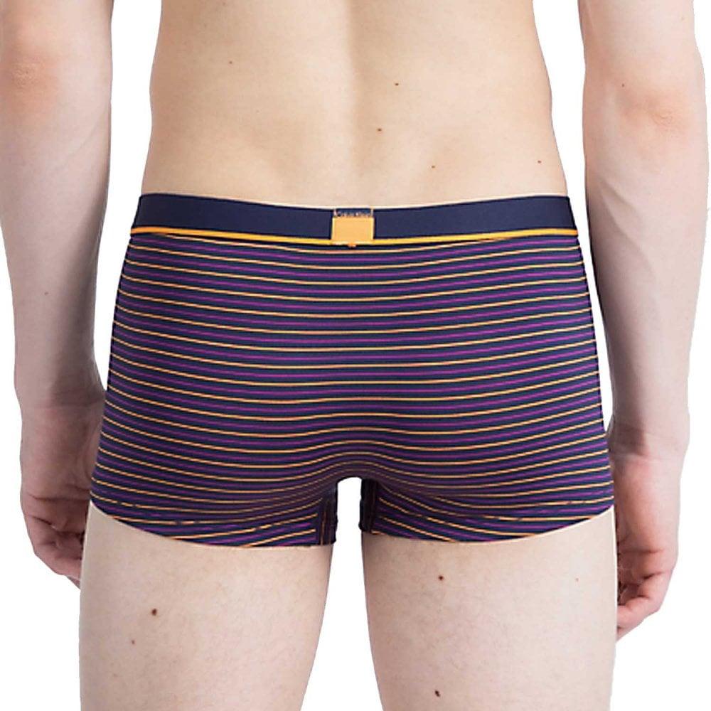 53352ee07b56 Calvin Klein ID Microfiber Low Rise Trunk, Standard Stripe Bold Navy