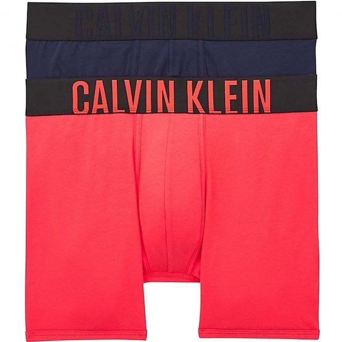 Calvin Klein Intense Power 2-Pack Boxer Brief, Strawberry Shake/Blue Shadow