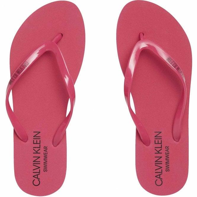 Calvin Klein Intense Power Flip Flop Sandals, Beetroot Purple