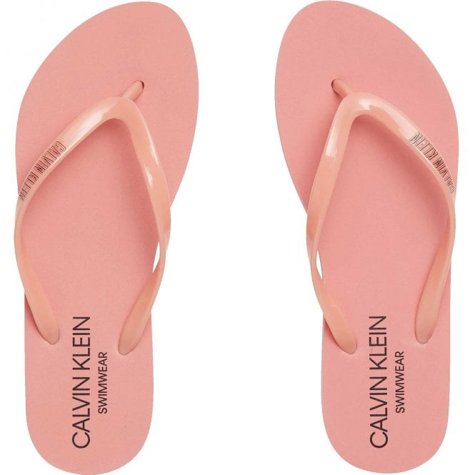 Calvin Klein Intense Power Flip Flop Sandals, Flamingo