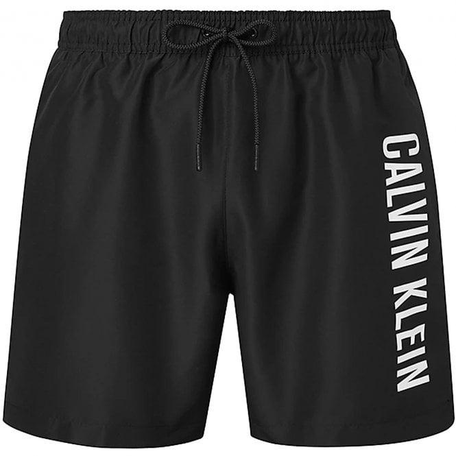 Calvin Klein Intense Power Medium Drawstring Swim Shorts, PVH Black
