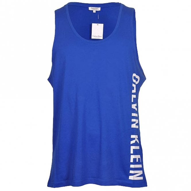 Calvin Klein Intense Power Swimwear Tank Top, Blue