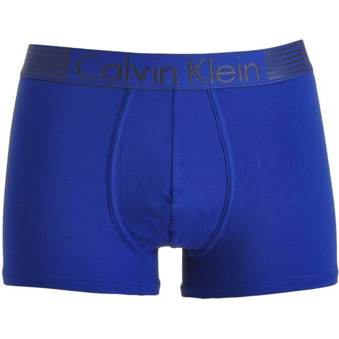 Calvin Klein Iron Strength Cotton Stretch Boxer Trunk, Blue
