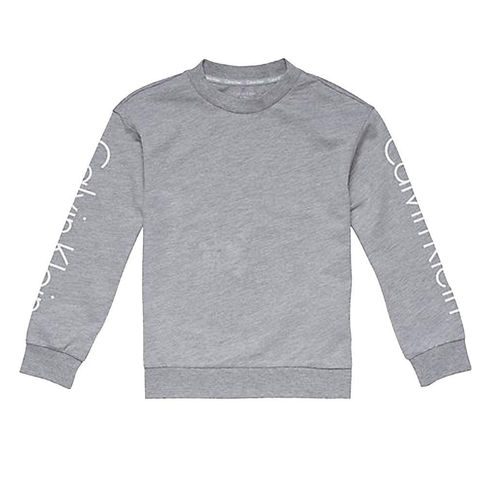 9a4e54d102 Calvin klein kids unisex logo sweatshirt heather grey image jpg 1000x1000 Calvin  klein boy